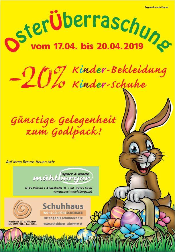 Osteraktion bei Sport Mühlberger und Schuhhaus Schermer