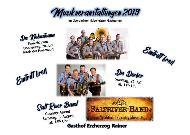 Live-Musik im Gasthof Erzherzog Rainer