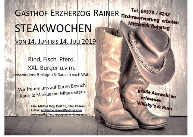 Steakwochen im Gasthof Erzherzog Rainer