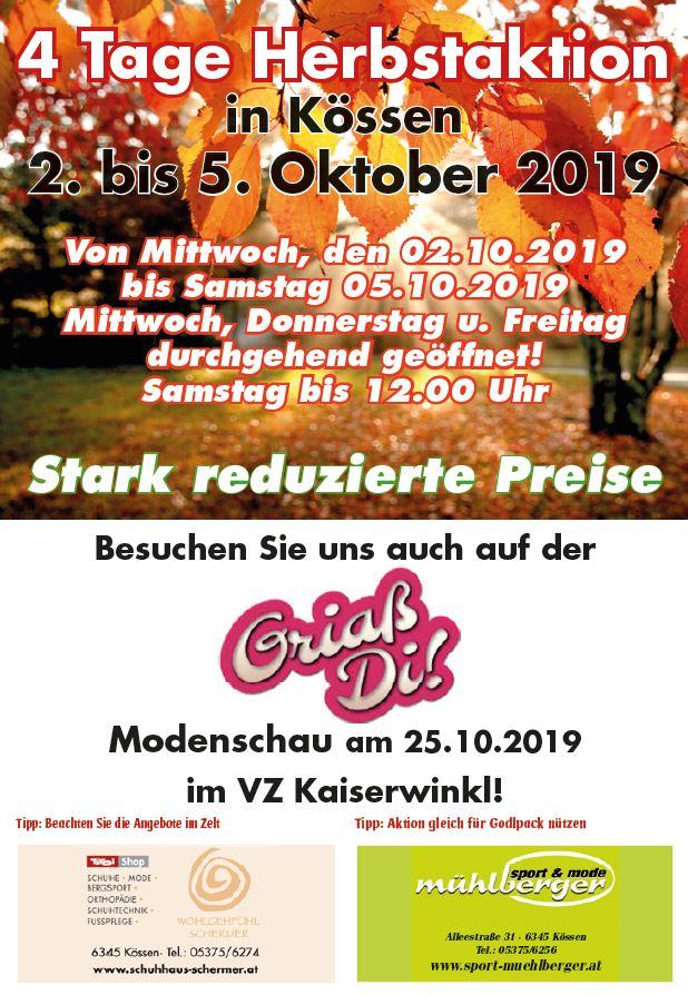 Sport-Mühlberger+Schermer Herbstaktion 2019