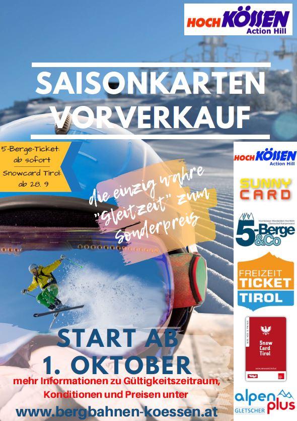 Unterberg Saisonkarten Vorverkauf startet am 1.10.2019