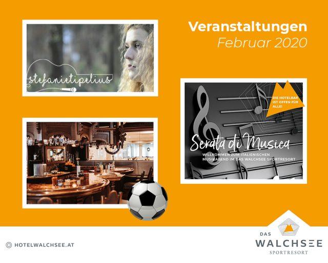 """Demnächst im Hotel """"Das Walchsee"""" Sportresort (Februar 2020)"""