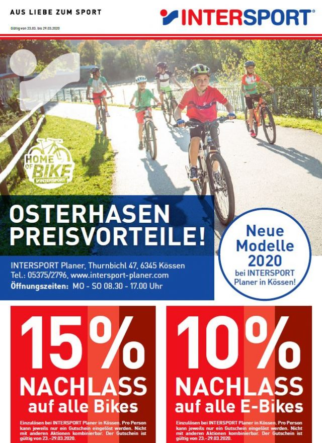 Osterhasen Preisvorteile 2020 bei Intersport Planer