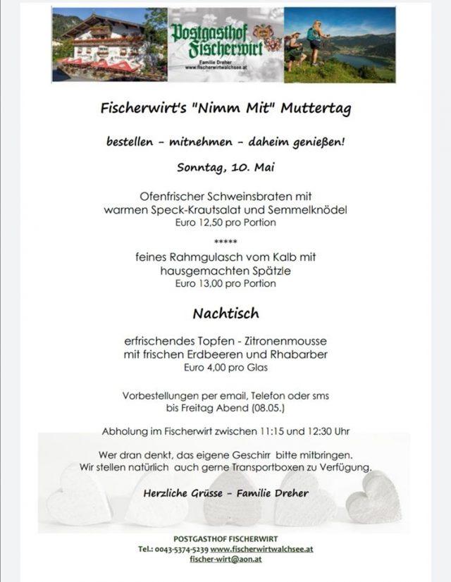"""Fischerwirt's """"Nimm Mit"""" Muttertag"""