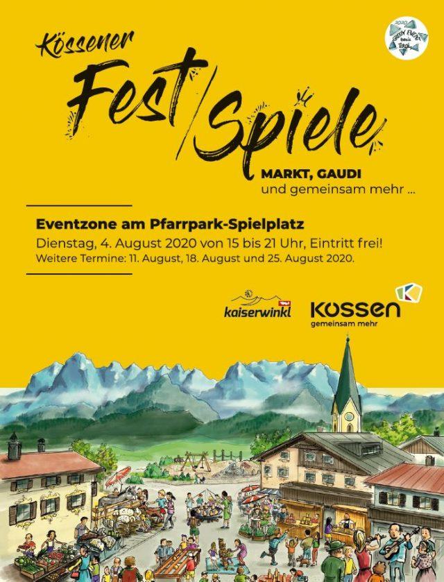 Kössener Fest/Spiele (3/6) am Dienstag 4. August 2020