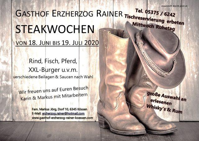 Steakwochen 2020 im Gasthof Erzherzog Rainer