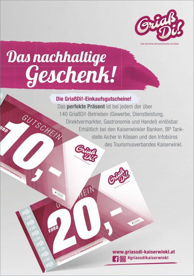 Kaiserwinkl Aktuell – GriaßDi! Werbung September 2020