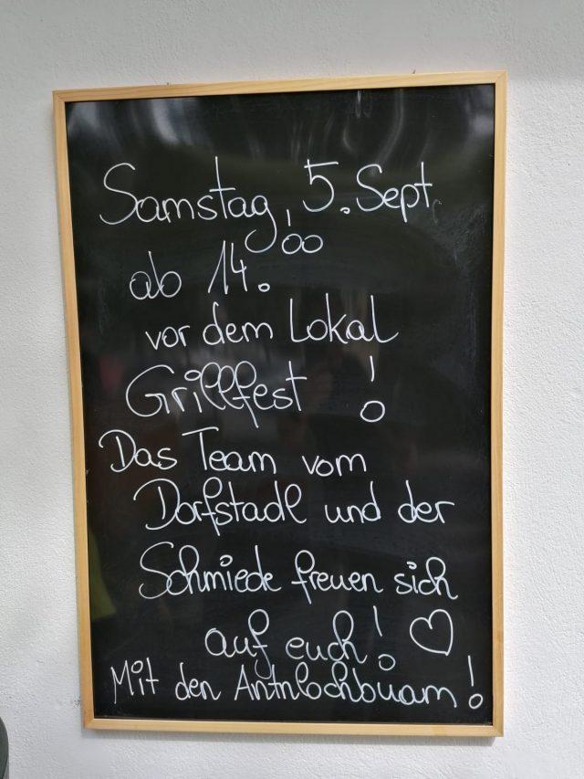 Grillfest am Samstag 5. September 2020