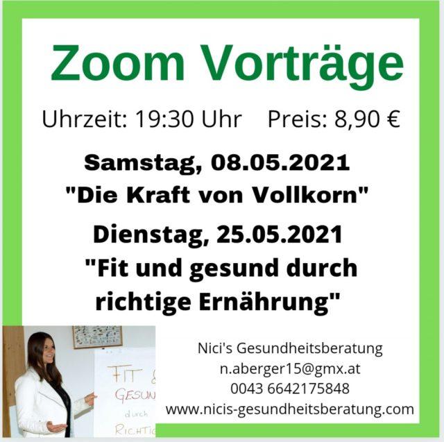 Zoom Vorträge im Mai 2021 – Nici Aberger